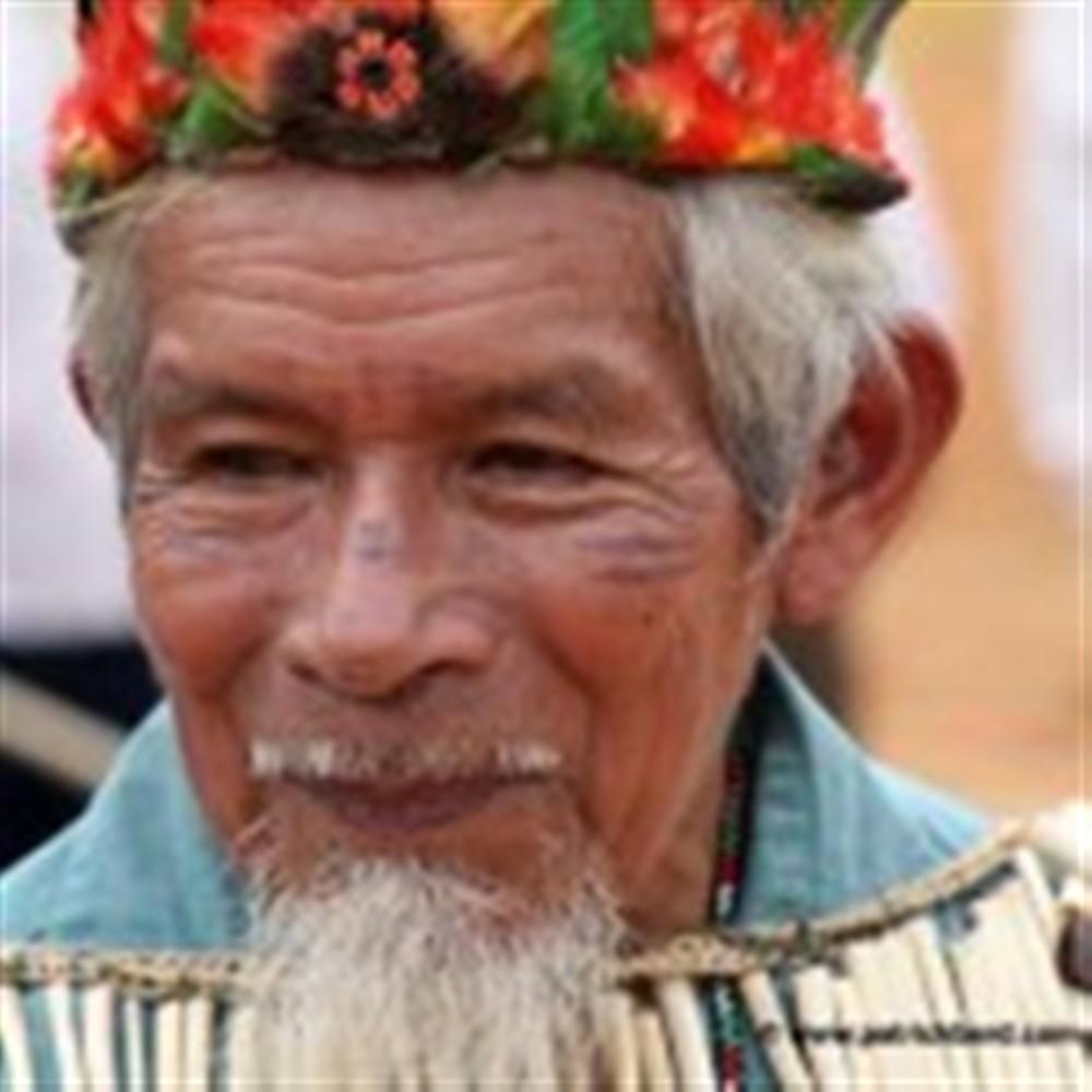 Don Sabino, shaman de Sarayacu, père de José Gualinga